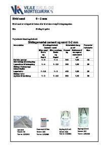 Hvid sand 0 – 2 mm