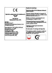 CE-mærkning Bakkemørtel 3,5% 0-4mm